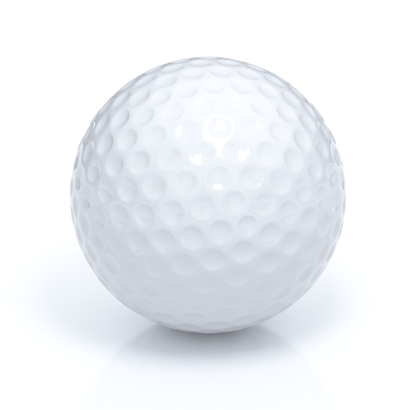 3d ball: Isolated golf ball with clipping path Stock Photo