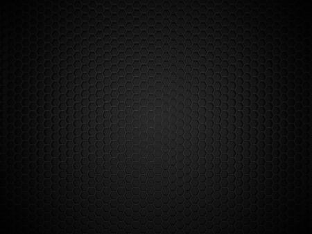 抽象的な黒い六角形の炭素の背景