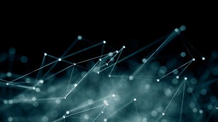 digitální: Abstrakt internetové sítě komunikační koncept pozadí - CG vykreslení