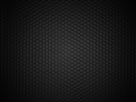 Abstract black hexagonal carbon background