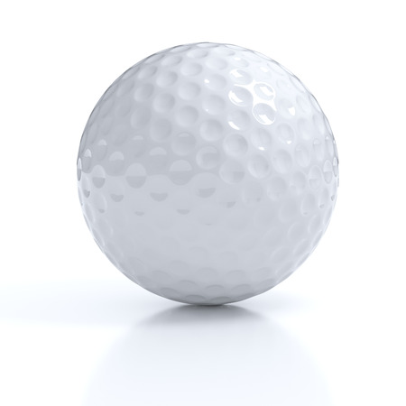 minigolf: Isolated golf ball with clipping path Stock Photo