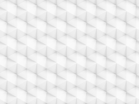 facet: Abstract white polygonal 3D seamless pattern - facet geometric structure background