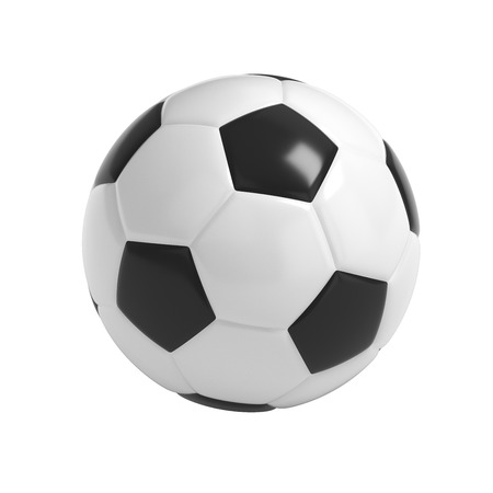 foot path: Football - Soccer ball HQ 3D render isolated with clipping path on white