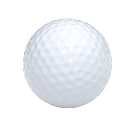 Isolated golf ball with clipping path Stockfoto