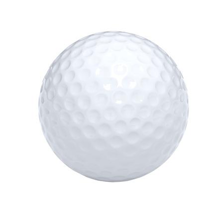 Geïsoleerde golfbal met het knippen van weg Stockfoto - 45148491