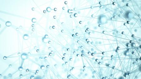 Abstract network molecule background - 3d visualisation Foto de archivo