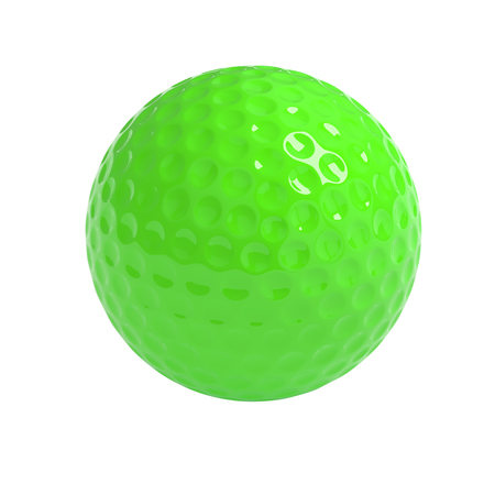 minigolf: Isolated green golf  ball with clipping path Stock Photo