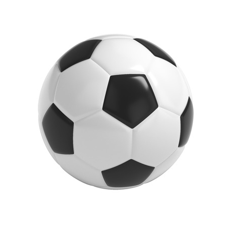 soccerball: Football - Soccer ball HQ 3D render isolated with clipping path on white
