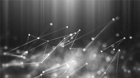 konzepte: Abstract blue mikroskopische Moleküle Struktur Hintergrund - 3D render Lizenzfreie Bilder