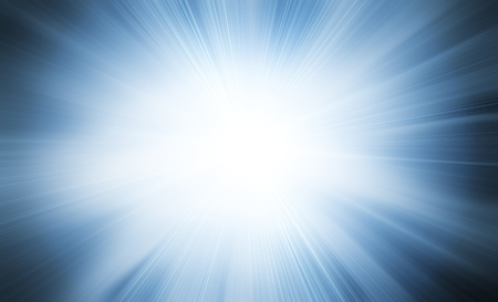 Abstract blue sunray light flare background