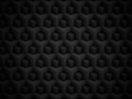 Abstract black polygonal 3D pattern - geometric box structure background