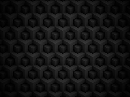 Abstract zwart veelhoekig 3D patroon - geometrische doosstructuur achtergrond