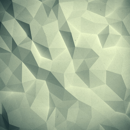 Abstract vintage 3D faceted geometric paper background