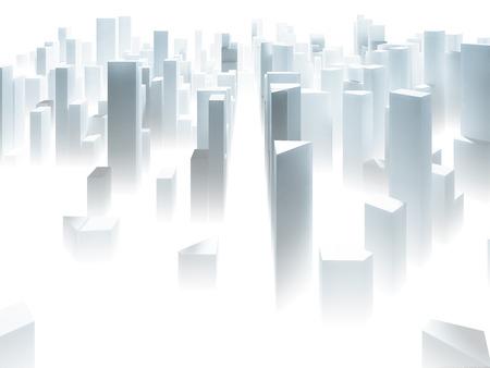 Abstracte witte stad maken - wolkenkrabber business kantoorgebouwen begrip