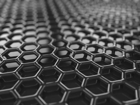 Abstracct 六角形カーボン ブラック背景