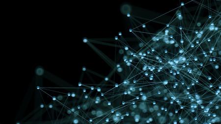 抽象的なインター ネット ネットワークの通信概念の背景 - CG レンダリングします。 写真素材