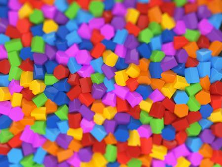 Abstracte kleurrijke zeshoekige structuur achtergrond - kind kits decoratie