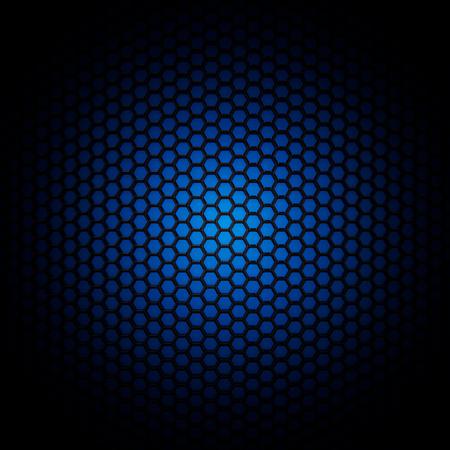 Blauw carbon moleculaire structuur raster achtergrond