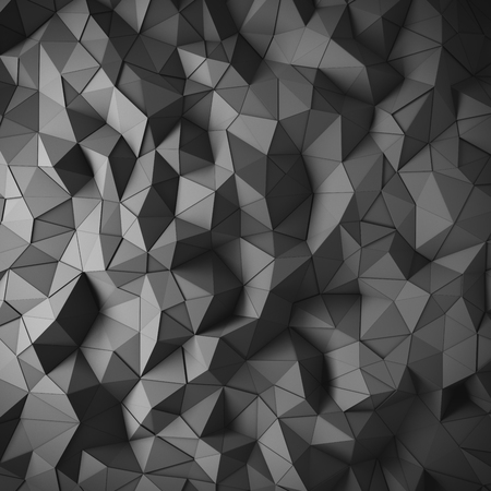 edgy: Abstract black 3D geometric polygon facet background mosaic made by edgy triangles