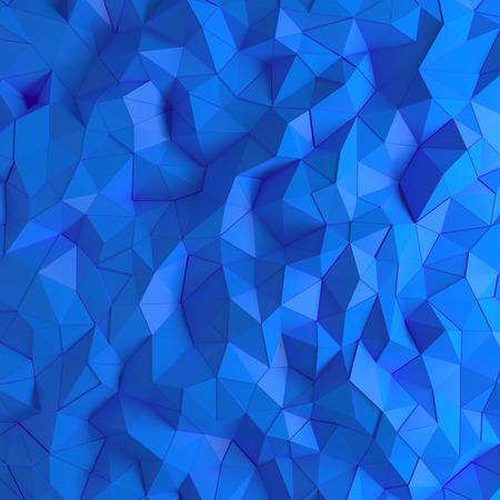 Abstracte blauwe 3D geometrische veelhoek facet achtergrond mozaïek gemaakt door edgy driehoeken