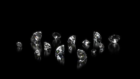 Luxe glanzende diamant achtergrond op zwart