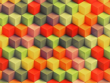 fondo geometrico: Cubos vendimia Abstact - Fondo geom�trico 3D Foto de archivo