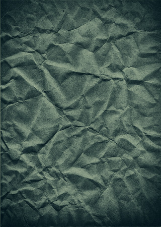 crumpled paper texture: Green crumpled paper texture Stock Photo