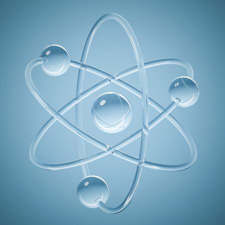 Abstract model van atoom - 3D science renderen met het knippen van weg