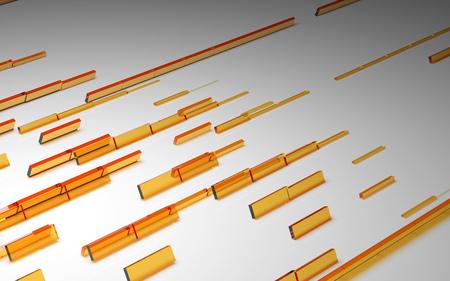 Abstracte oranje 3D-kubussen achtergrond
