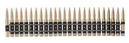 Bullet Shells Belt 3D render geïsoleerd op wit