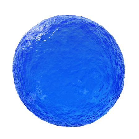 blue sphere: Big Blue Ocean Sphere - 3D reneder isolated on white background Stock Photo