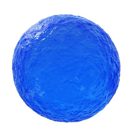 Big Blue Ocean Sphere - 3D reneder geïsoleerd op een witte achtergrond