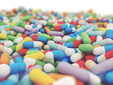 Colorful Vitamin Tablet - 3D Render