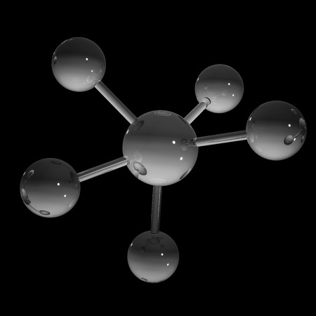 Abstract molecule - 3D gesmolten beeld