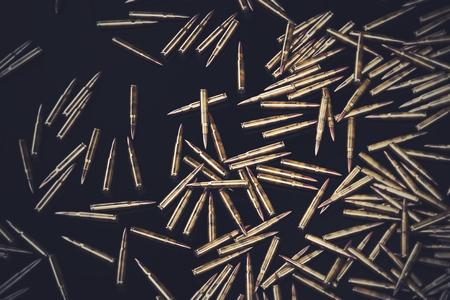 Bullet Shells Achtergrond - 3D-gerenderde afbeelding