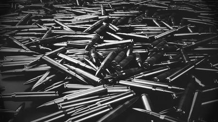 Bullet Shells Achtergrond - 3D teruggegeven beeld