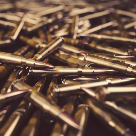 Bullet Shells Background - 3D rendered image