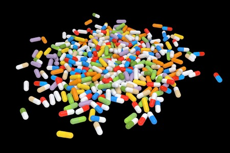 Colorful Vitamin Tablet - rendered image