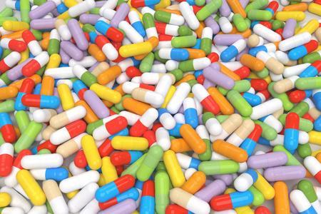 Kleurrijke Vitamine Tablet - gesmolten beeld