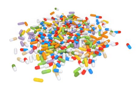 multivitamin: Colorful Vitamin Tablet - rendered image