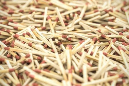 rendered: Match sticks pile - 3D rendered image