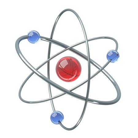orbital: Orbital model of atom - 3D illustration