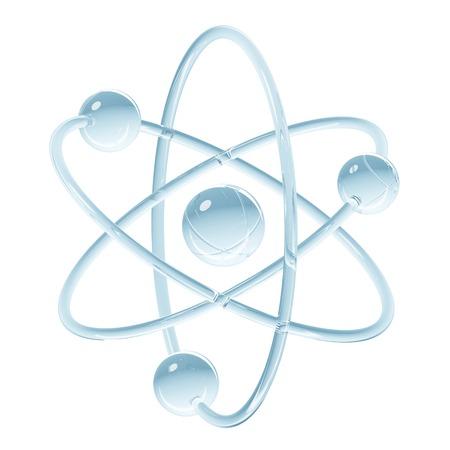 Abstract model van atoom 3D illustratie Stockfoto