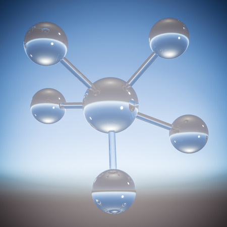 Abstract molecule achtergrond - 3D illustratie
