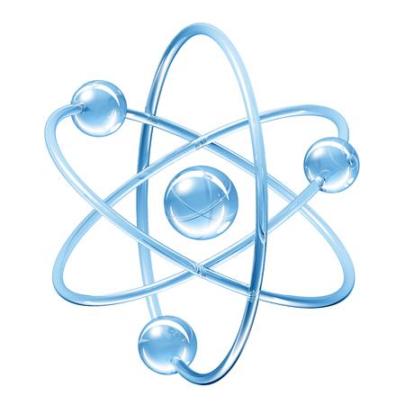 Orbital model van atoom - 3D illustratie Stockfoto