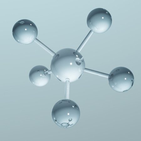 Abstract molecule background - 3D illustration