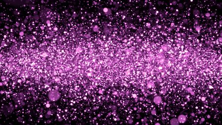 Christmas Background Purple Glitters - 3D Rendered Shining Sparkles