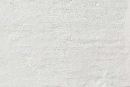 Retro white brick wall texture with plaster. Cool Brick plaster background Stockfoto
