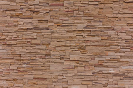 Yellow Stone Brick Wall Texture Background Stockfoto