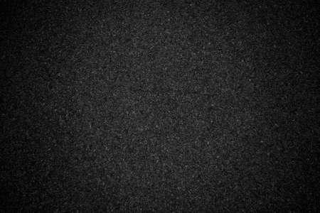 Black asphalt background texture with vignete. Abstract black background Stockfoto